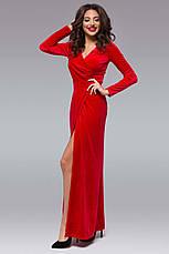 """Женское длинное вечернее платье 145 """"Бархат Запах Макси"""" в расцветках, фото 2"""