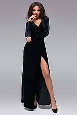 """Женское длинное вечернее платье 145 """"Бархат Запах Макси"""" в расцветках, фото 3"""