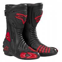 Мотоботы Alpinestars S-Mx R Black Red