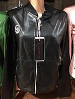 Женская куртка черная ЭКО кожа 42-50р