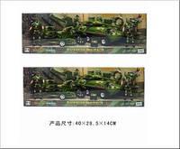 Набор игровой DML военный с мотоциклом и джипом (бронетранспортером)