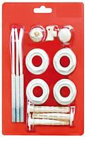 """Комплект для монтажа радиаторов, 1/2"""", 13 предметов с 3 кронштейнами"""