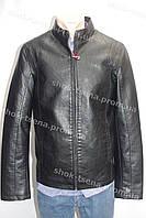 Демисезонная мужская куртка из кож. заменителя черная