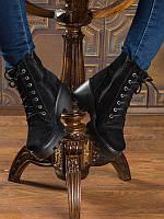 Женские ботинки Б-1 на каблуке из замши