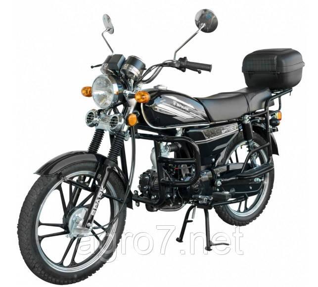 Мотоцикл с доставкой SP110С-2 Альфа (4т, 110 см3, задний багажник, подножка)