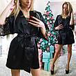 """Женский стильный домашний пеньюар-рубашка 200 """"Атлас Кружево"""", фото 4"""