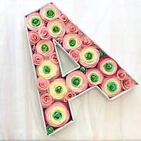 Объёмная буква  А (цветочки)