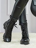Женские ботинки Б-1 на каблуке из кожи