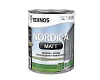 Краска акриловая TEKNOS NORDICA MATTдля древесины транспарентная (база 3) 0,9л