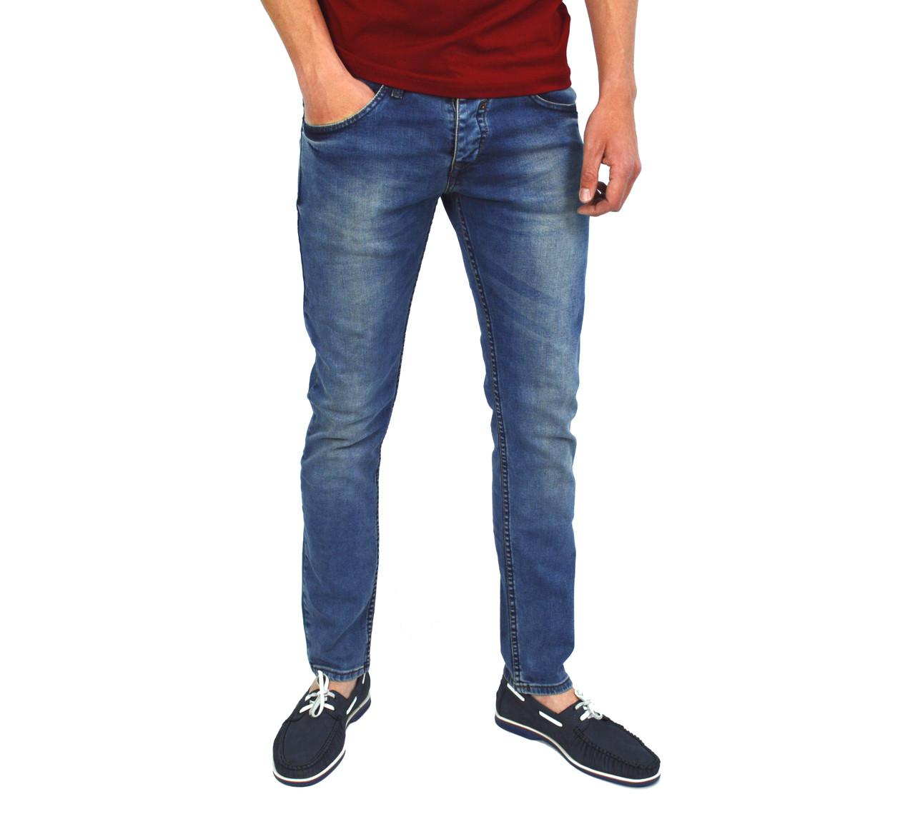 Синие мужские джинсы зауженные DSQUARED