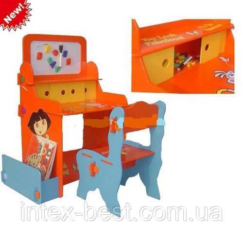 Детская парта со стульчиком и магнитной доской Bambi W 001
