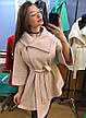 """Стильное женское лёгкое пальто-манто 083 """"Букле Клёш Углы Брошь"""" в расцветках, фото 6"""