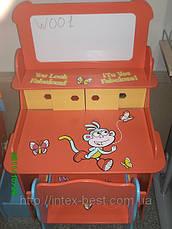 Детская парта со стульчиком и магнитной доской Bambi W 001, фото 2