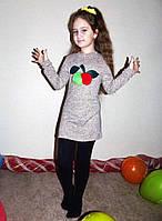 """Детское стильное тёплое платье ангора 03 """"Яблонька Мех"""""""