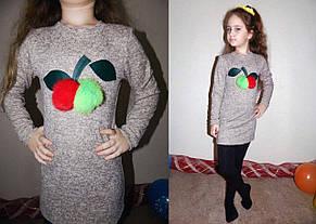 """Детское стильное тёплое платье ангора 03 """"Яблонька Мех"""", фото 2"""