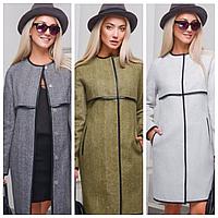 Женское пальто на кнопках осень-весна