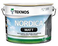 Краска акриловая TEKNOS NORDICA MATTдля древесины транспарентная (база 3) 9л