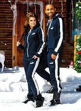 """Тёплый мужской спортивный костюм на байке 836 """"PUMA"""" в расцветках, фото 3"""