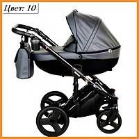 Детская коляска кожаная 2 в 1 VERDI MIRAGE  Graphite 10
