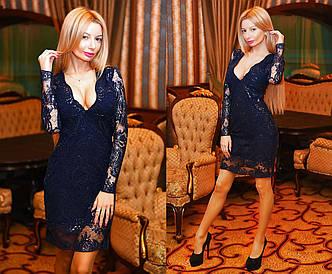 """Роскошное вечернее короткое платье 9037 """"Дариелла Пайетка"""" в расцветках, фото 2"""