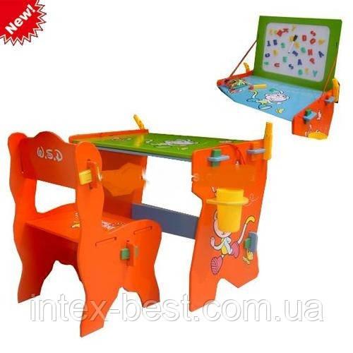 Детская парта со стульчиком и магнитной доской Bambi W 005