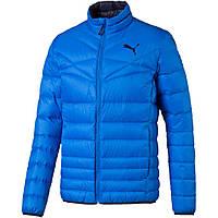 Куртка спортивная мужская Puma Active 600 838646 13 (синяя, зимняя, пуховик, легкая, стойка, с логотипом пума)