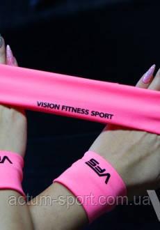 Розовый фитнес-комплект ( напульсник, повязка )