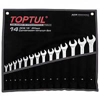 Набор комбинированных ключей 14ед 8-24мм TOPTUL GPAX1402
