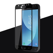 Защитное стекло OP Full cover для Samsung J330 J3 2017 черный