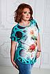 """Стильная летняя женская туника в больших размерах 4639 """"Колибри"""" в расцветках, фото 4"""