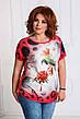"""Стильная летняя женская туника в больших размерах 4639 """"Колибри"""" в расцветках, фото 5"""