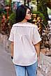 """Элегантная женская блузка в больших размерах 1142 """"Коттон Кружево Плечи"""" в расцветках, фото 3"""