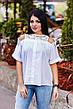 """Элегантная женская блузка в больших размерах 1142 """"Коттон Кружево Плечи"""" в расцветках, фото 4"""