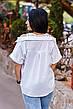 """Элегантная женская блузка в больших размерах 1142 """"Коттон Кружево Плечи"""" в расцветках, фото 5"""