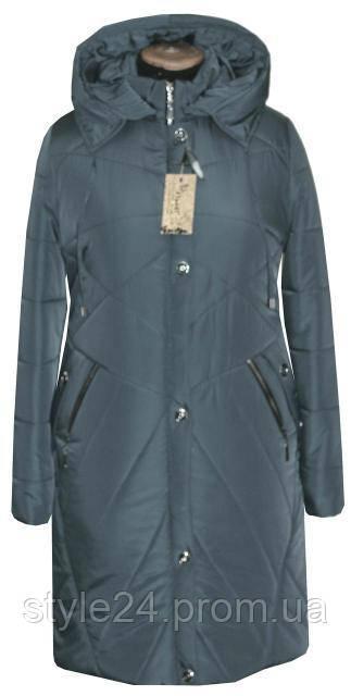 Зимове пальто-пуховик батальних розмірів (54-70)