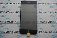 Стекло корпуса для Apple iPhone 6 Plus с рамкой / OCA пленкой / поляризационной пленкой / черное