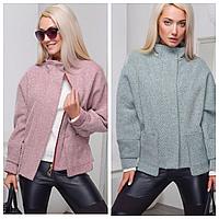 Короткое женское пальто-пиджак | Демисезонное женское пальто осень-весна