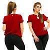 """Элегантная женская блузка на резинке в больших размерах 5008 """"Креп Капелька Подвеска"""" в расцветках"""