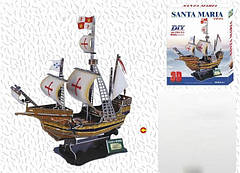 "3D пазл-корабль ""Санта-Мария"" 160 деталей"
