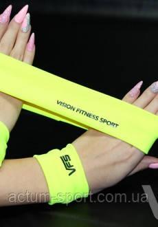 Желтый фитнес-комплект ( напульсник, повязка )