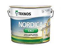 Краска акриловая TEKNOS NORDICA ECO для древесины транспарентная (база3) 2,7л