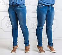 Женские летние стильные джинсы до больших размеров 003