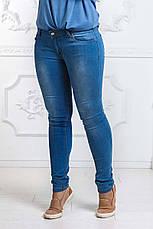 Женские летние стильные джинсы до больших размеров 003, фото 3
