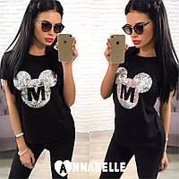 Женская модная футболка  ДЖ1067