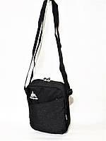 Мужская спортивная стильная повседневная сумка на плечо ONE POLAR 5693 чёрная