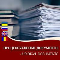 Процессуальные документы / Juridical documents