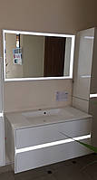 Комплект мебели для ванной тумба и зеркало Torino Botticelli (Tr-100+TrM-100)