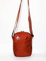Красивая  спортивная стильная повседневная сумка на плечо ONE POLAR 5693 оранжевая