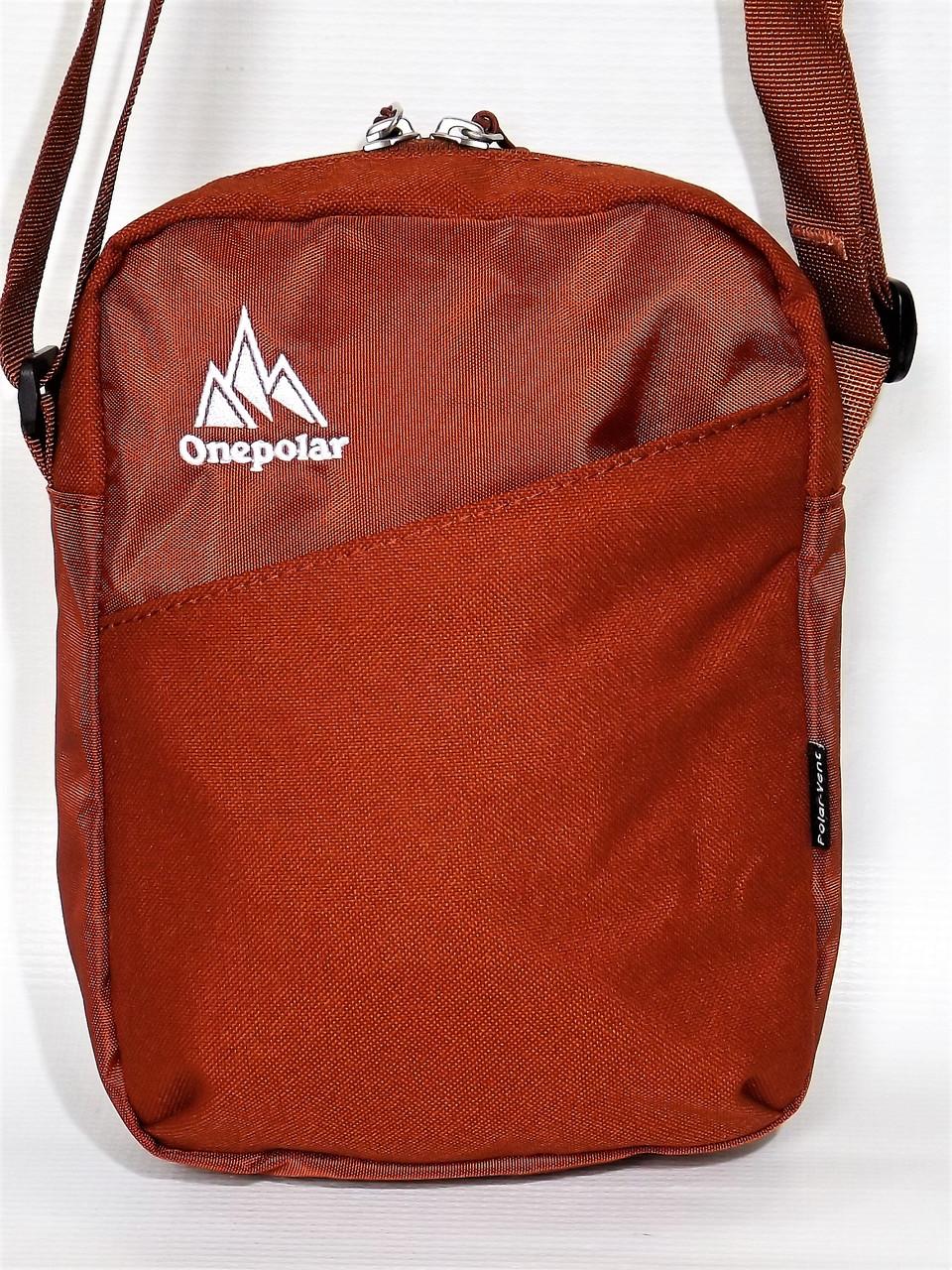 1ee6c0821af3 Красивая спортивная стильная повседневная сумка на плечо One polar 5693  оранжевая - интернет-магазин