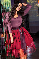 Нарядное платье с юбкой из фатина 88347